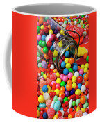 Jar Spilling Bubblegum With Candy Coffee Mug by Garry Gay