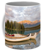 Jasper Lake Canoes Coffee Mug