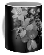 Jatropha Blossoms Wasp Painted Bw Coffee Mug