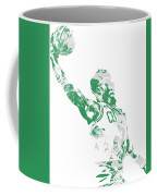 Jaylen Brown Boston Celtics Pixel Art 11 Coffee Mug