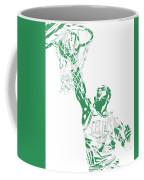 Jaylen Brown Boston Celtics Pixel Art 12 Coffee Mug