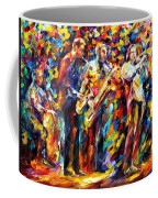 Jazz Band - Palette Knife Oil Painting On Canvas By Leonid Afremov Coffee Mug