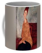 Jeanne Hebuterne In A Yellow Jumper Coffee Mug by Amedeo Modigliani