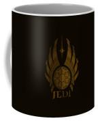 Jedi Symbol - Star Wars Art, Brown Coffee Mug