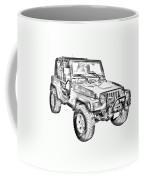Jeep Wrangler Rubicon Illustration Coffee Mug