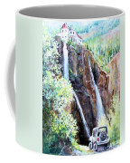 Jeeping At Bridal Falls  Coffee Mug
