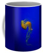 Jellyfish From The Deep Blue Coffee Mug by Nila Newsom