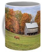Jericho Hill Vermont Horse Barn Fall Foliage Coffee Mug