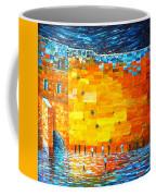 Jerusalem Wailing Wall Original Acrylic Palette Knife Painting Coffee Mug