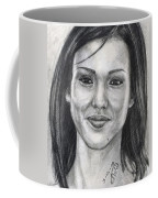 Jessica Alba Portrait Coffee Mug
