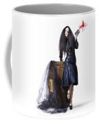 Jester With Wine Barrel Coffee Mug by Jorgo Photography - Wall Art Gallery