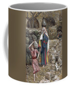 Jesus And His Mother At The Fountain Coffee Mug