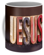 Jesus - Antique Letterpress Letters Coffee Mug