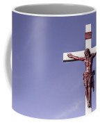 Jesus Crucifix Against The Sky Coffee Mug