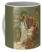 Jesus In Front Of Pilate Coffee Mug by John Lawson