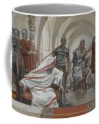 Jesus Led From Herod To Pilate Coffee Mug by Tissot