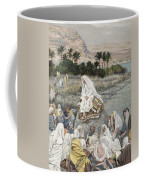 Jesus Preaching By The Seashore Coffee Mug by Tissot