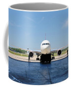 Jet Aircraft Rendering. Coffee Mug