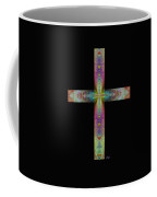 Jeweled Cross On Black Coffee Mug