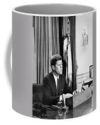 Jfk Addresses The Nation Painting Coffee Mug