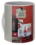 Jim Beam's Old Crow And Red Stag Signs Coffee Mug