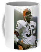 Jim Brown, Cleveland Browns, Signed Coffee Mug