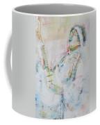 Jimi Hendrix Playing The Guitar.9 - Watercolor Portrait Coffee Mug