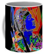 Jimi In Heaven Colorful Coffee Mug by Navo Art