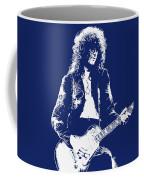 Jimmy Page In Blue Portrait Coffee Mug