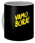 Jiu Jitsu Design Vamo Bora Yellow Light Martial Arts Coffee Mug