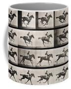 Jockey On A Galloping Horse Coffee Mug