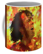 Joe Cocker Colorful Palette Knife Coffee Mug