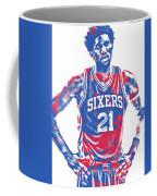 Joel Embiid Philadelphia Sixers Pixel Art 10 Coffee Mug