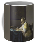Johannes Vermeer A Lady Writing C.  Painting Coffee Mug