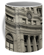 John Adams Courthouse Boston Ma Black And White Coffee Mug