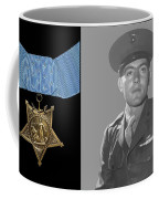 John Basilone And The Medal Of Honor Coffee Mug by War Is Hell Store
