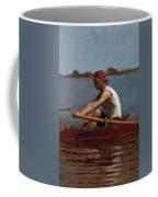 John Biglin In A Single Scull Coffee Mug