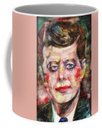 John F. Kennedy - Watercolor Portrait.3 Coffee Mug