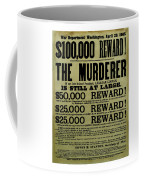 John Wilkes Booth Wanted Poster Coffee Mug