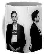 Johnny Cash Mug Shot Horizontal Coffee Mug