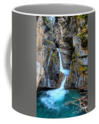 Johnston Canyon Falls Hike Upper Falls II Coffee Mug