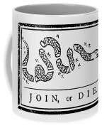 Join Or Die Coffee Mug by War Is Hell Store
