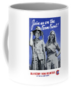Join Us On The Farm Front Coffee Mug