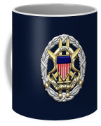 Joint Chiefs Of Staff - J C S Identification Badge On Blue Velvet Coffee Mug