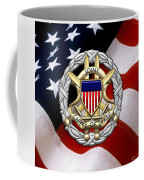 Joint Chiefs Of Staff - J C S Identification Badge Over U. S. Flag Coffee Mug