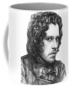 Jon Snow Game Of Thrones Coffee Mug by Olga Shvartsur