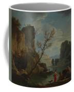Joseph Vernet   A River With Fishermen Coffee Mug