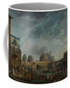 Joseph Vernet   A Sporting Contest On The Tiber At Rome Coffee Mug