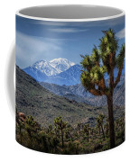 Joshua Tree In Joshua Park National Park With The Little San Bernardino Mountains In The Background Coffee Mug