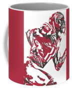 Julio Jones Atlanta Falcons Pixel Art 11 Coffee Mug